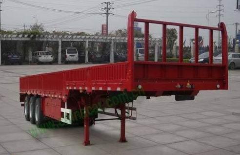 13米三桥鹅颈栏板半挂车